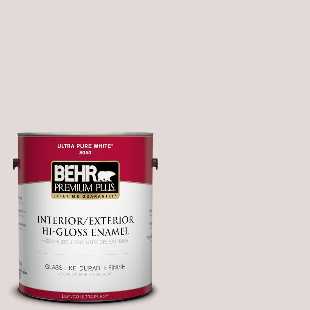 1-gal. #120E-1 Dreamy White Hi-Gloss Enamel Interior/Exterior Paint