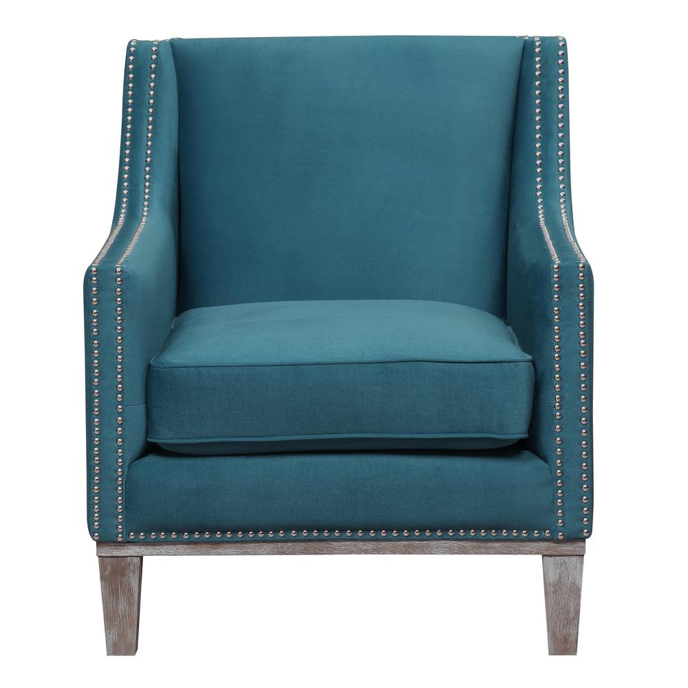 Aster Teal Accent Chair Uag816100dwbca The Home Depot