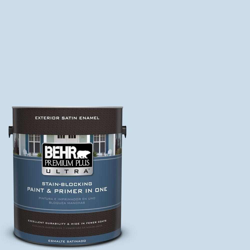 BEHR Premium Plus Ultra 1-gal. #M510-1 Blue Me Away Satin Enamel Exterior Paint
