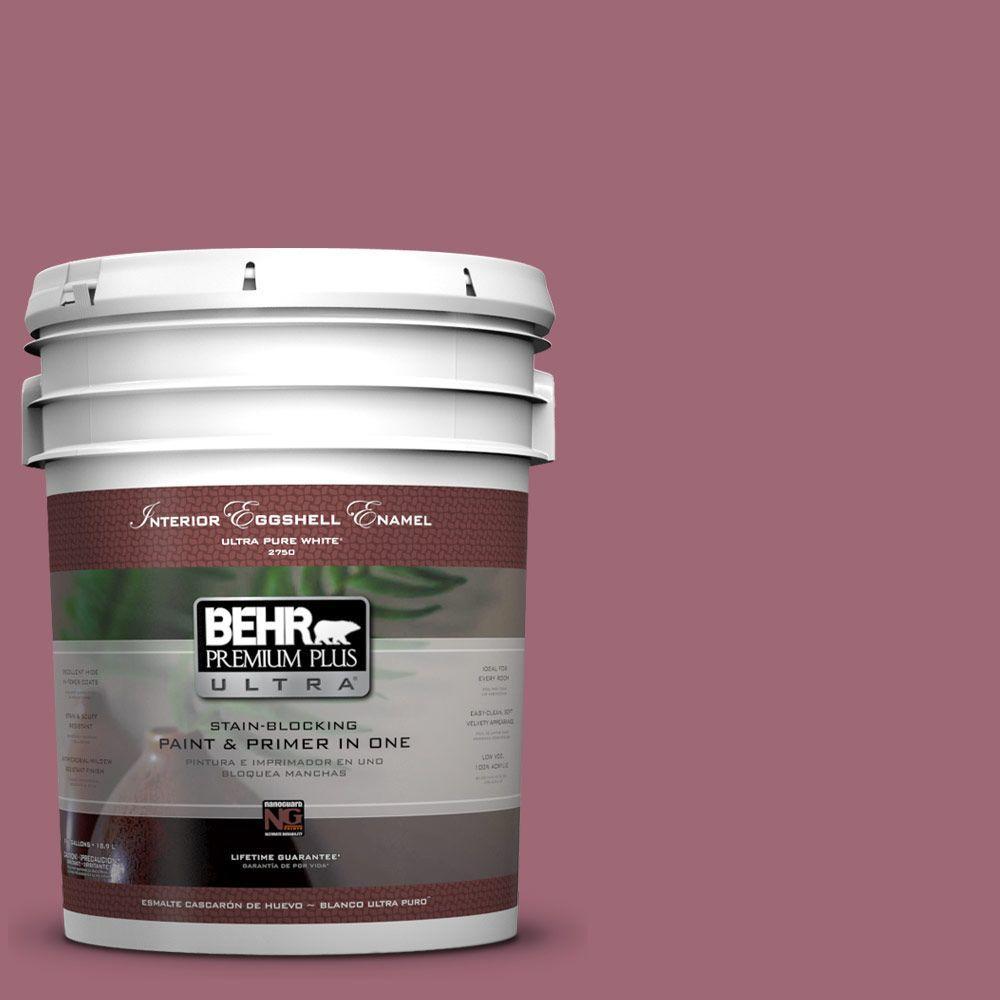 BEHR Premium Plus Ultra 5-gal. #100D-5 Berries and Cream Eggshell Enamel Interior Paint