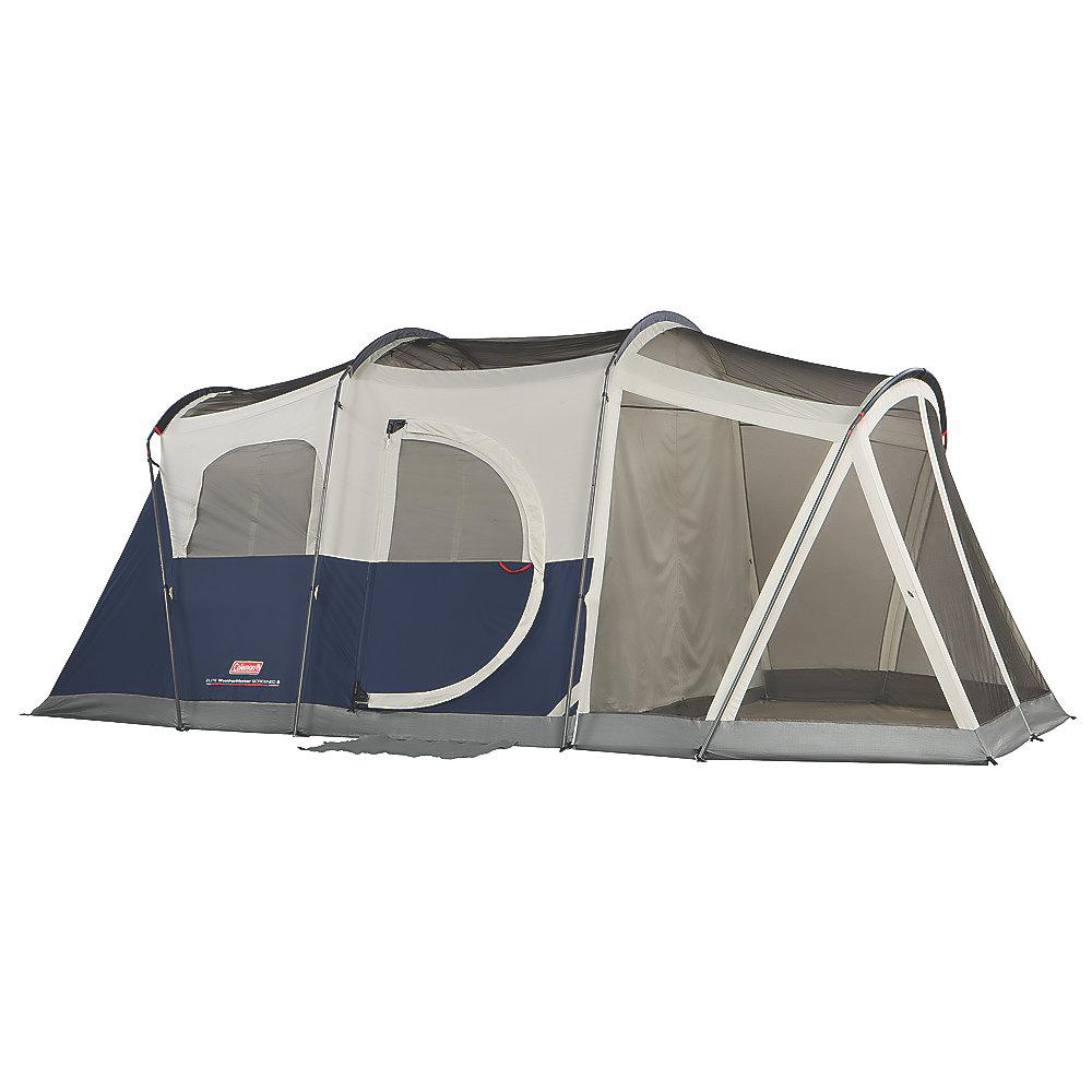 Coleman Elite WeatherMaster 6-Person 11 ft. x 9 ft. Lighted Tent with Screen Room-2000027947 - The Home Depot  sc 1 st  The Home Depot : tent with screen room - memphite.com