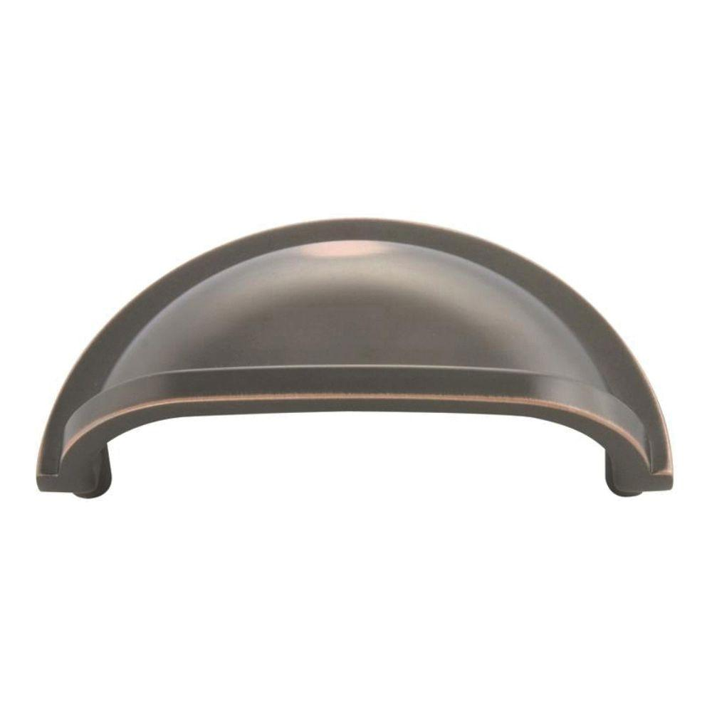 Hickory Hardware Williamsburg 3 in. Center-to-Center Oil-Rubbed Bronze Highlighted Cup Pull