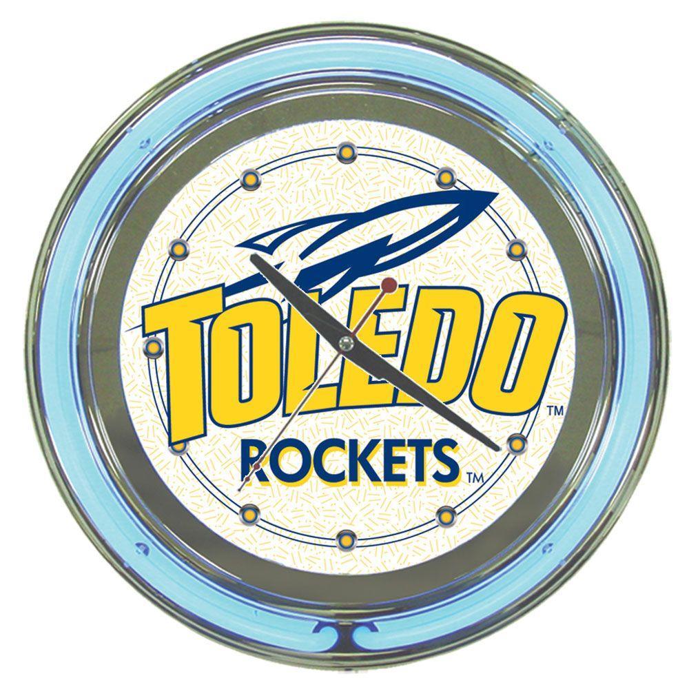 Trademark 14 in. University of Toledo Neon Wall Clock
