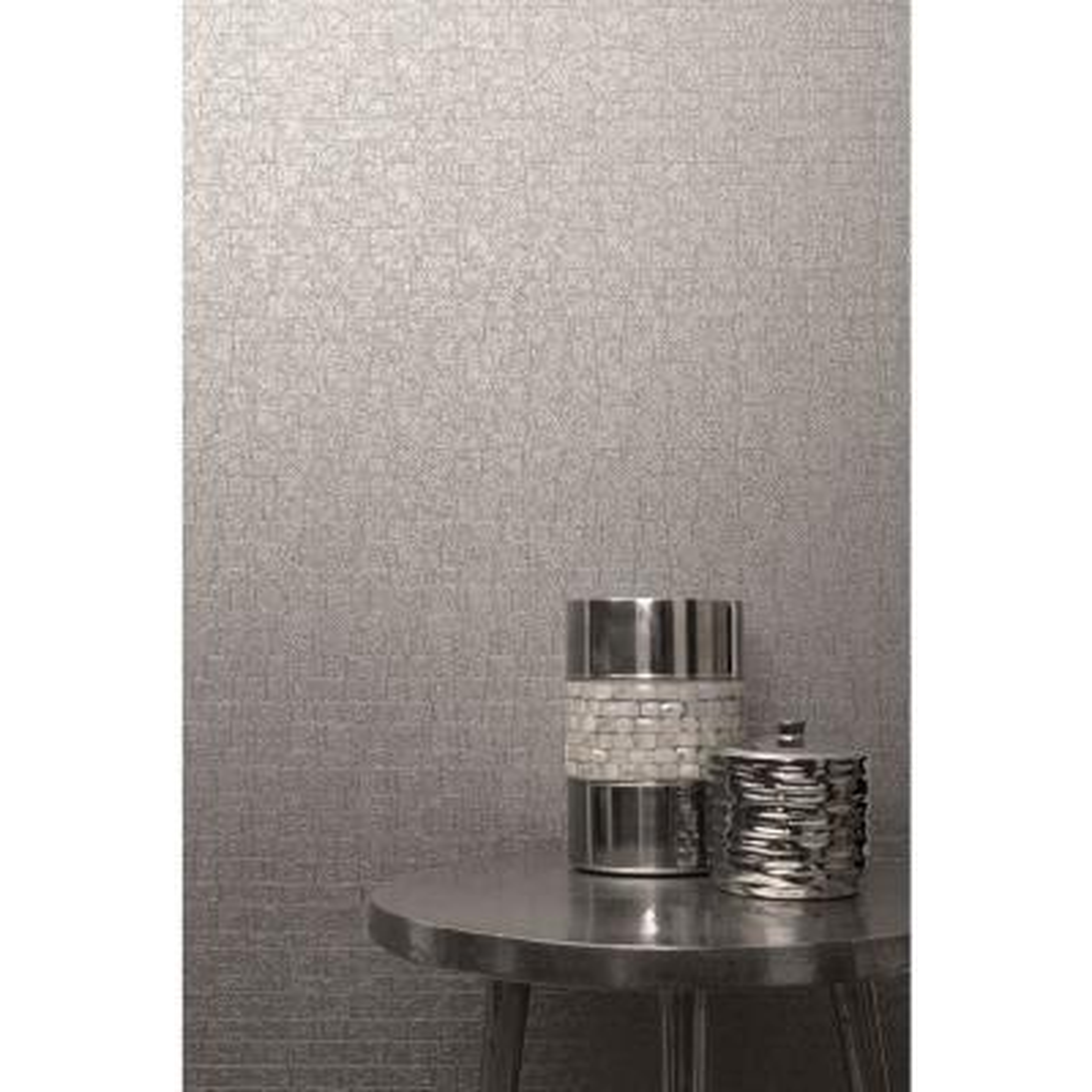 Urbana Grey Geometric Texture Wallpaper Sample