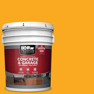 5 gal. #P270-7 Sunny Side Up Self-Priming 1-Part Epoxy Satin Interior/Exterior Concrete and Garage Floor Paint