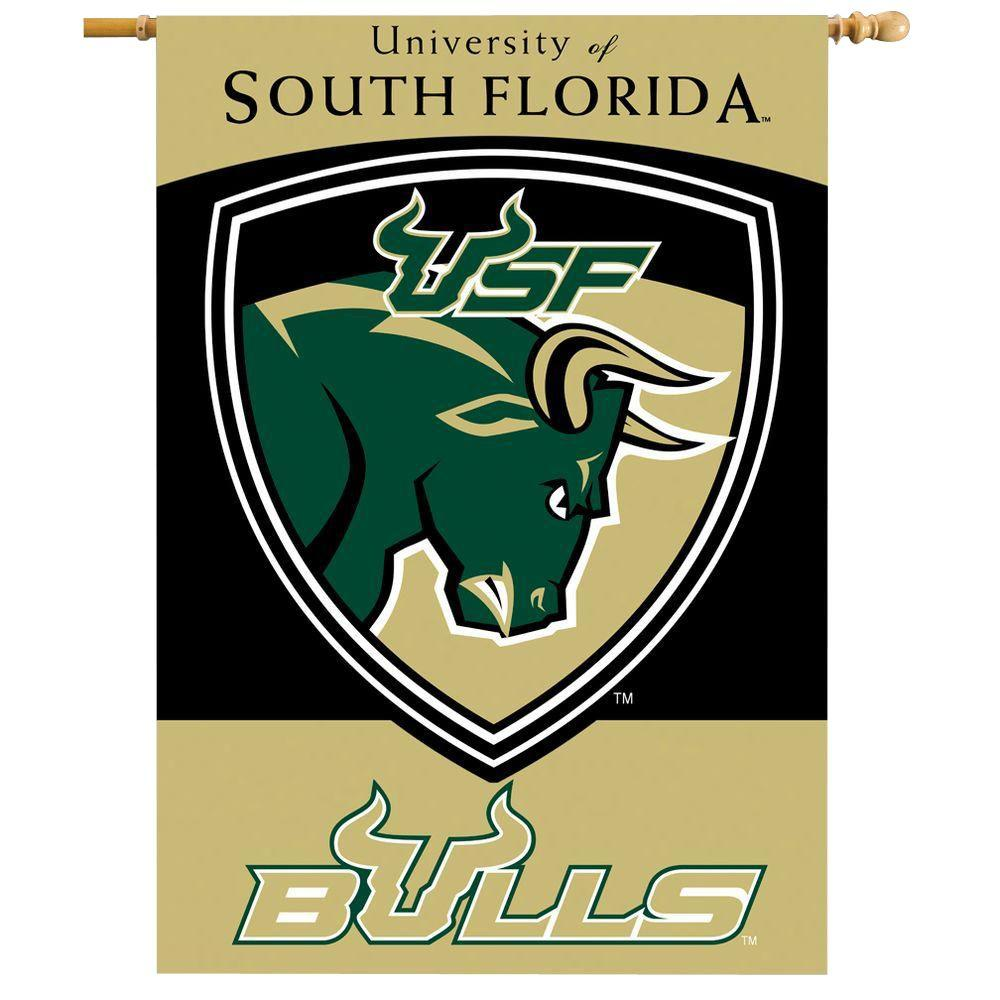 BSI Products NCAA 28 in. x 40 in. South Florida 2-Sided Banner with Pole Sleeve