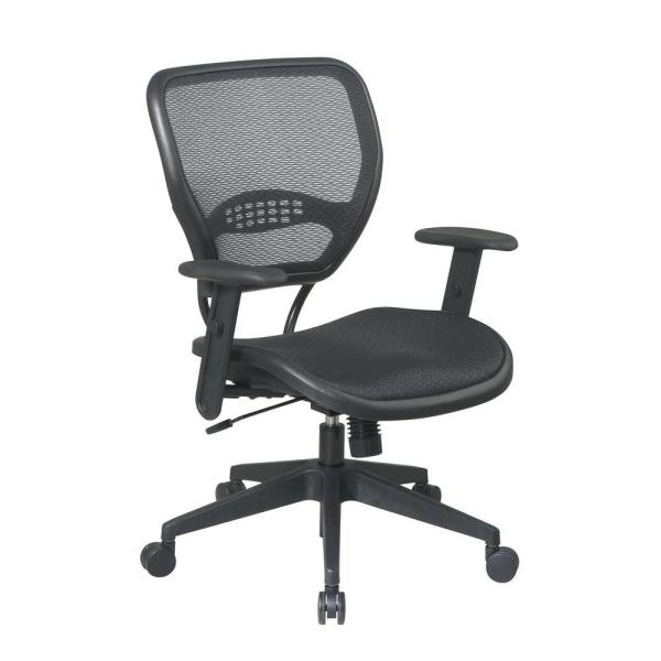 Space Seating Deluxe Black AirGrid Back Office Chair