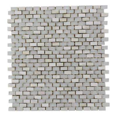 Paradox Mystery 12 in. x 12 in. x 8 mm Mixed Materials Mosaic Floor and Wall Tile
