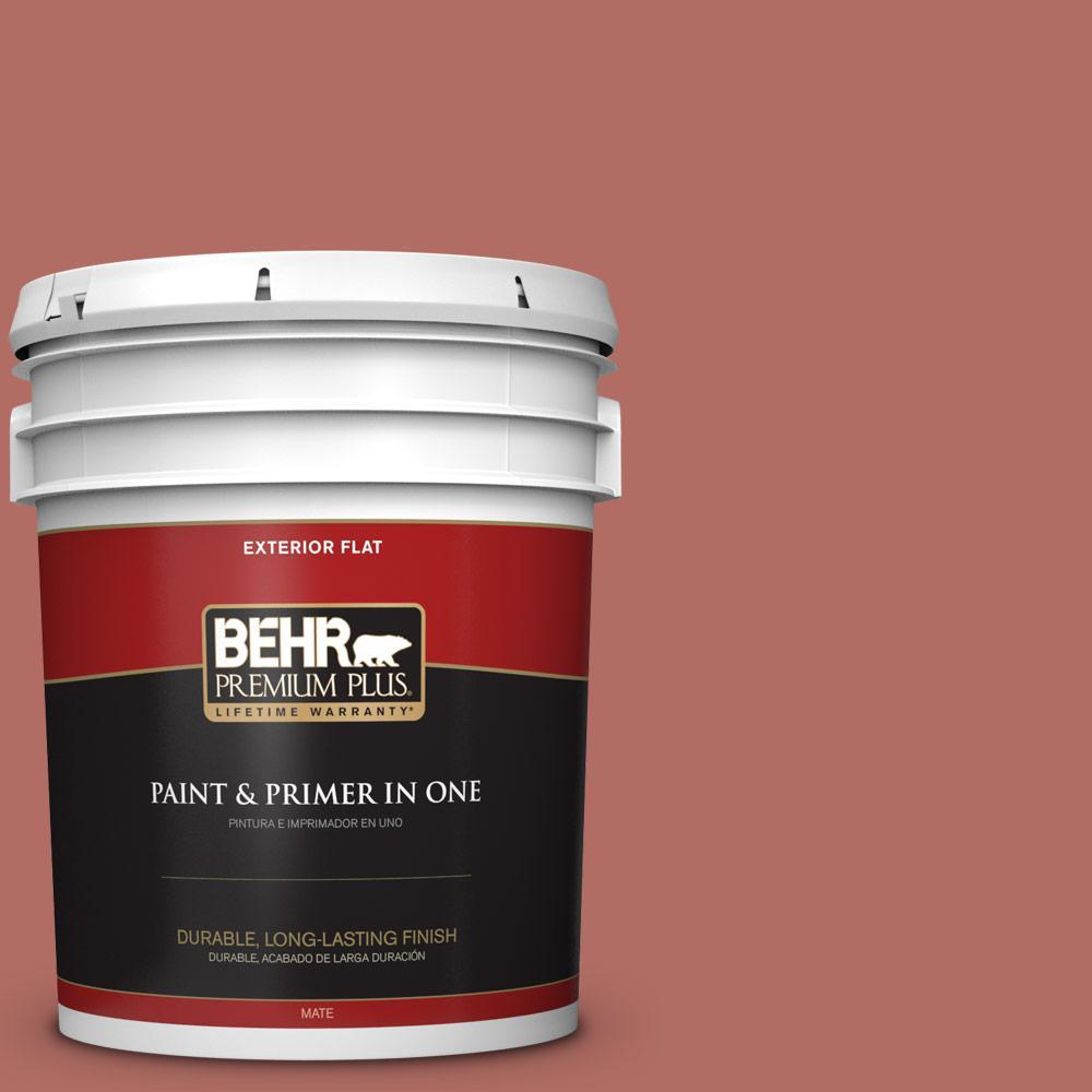 Behr Premium Plus 5 Gal Mq1 22 Scene Stealer Flat Exterior Paint And Primer In One 440005