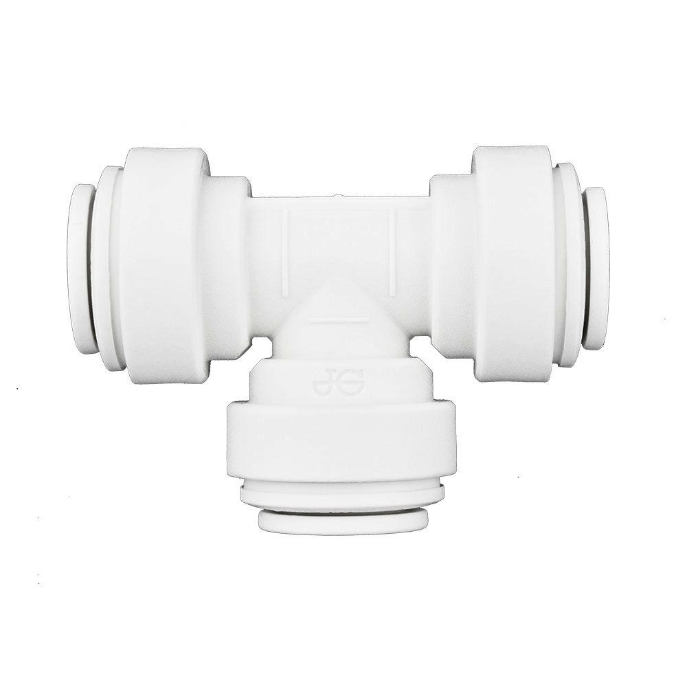 Home Depot Design Connect Online: John Guest 5/16 In. Push-to-Connect Tee (10-Pack)-PPM0208W