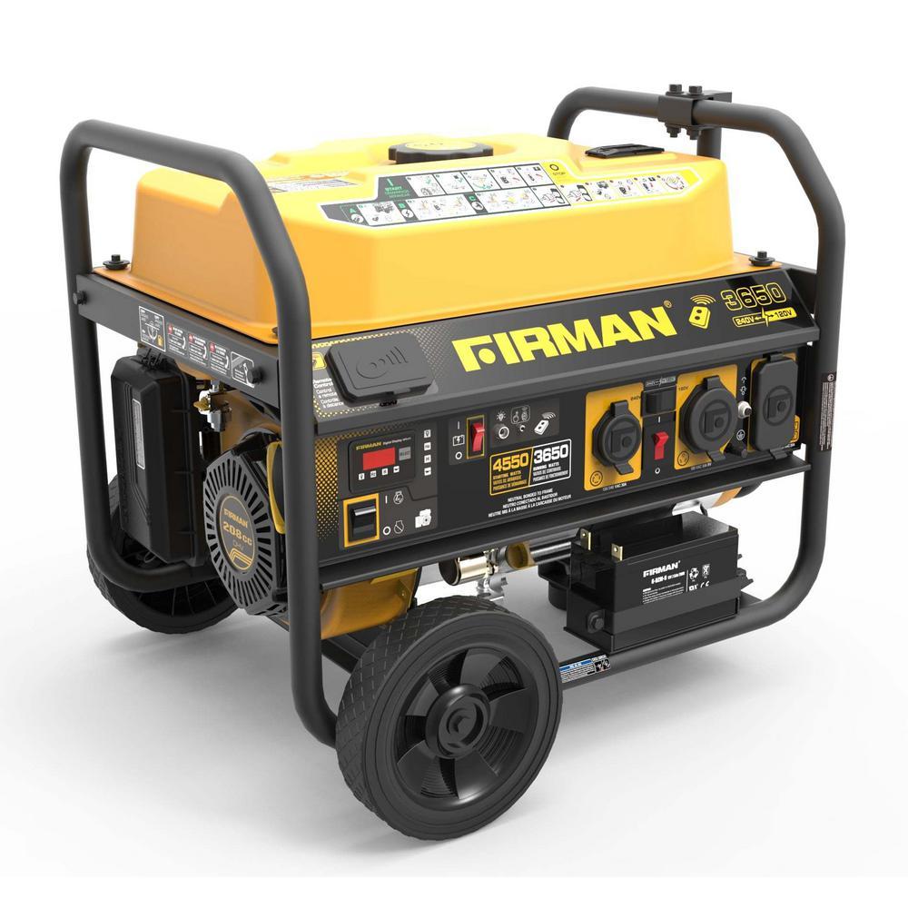 Performance Series 3650-Watt Gasoline Powered Remote/Electric Start Portable Generator