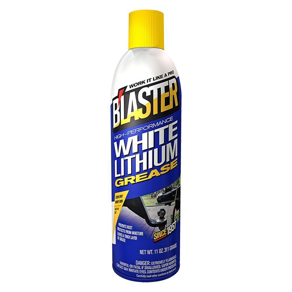 Blaster 11 Oz High Performance White Lithium Grease 16 Lg