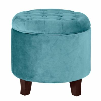 Teal Ottomans Living Room Furniture The Home Depot