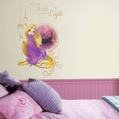 2.5 in. W x 27 in. H Disney Princess Rapunzel 2-Piece Peel and Stick Giant Wall Graphic