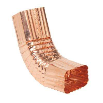 2 in. x 3 in. K-Style Copper Square Corrugated Front 75 Degree A Elbow