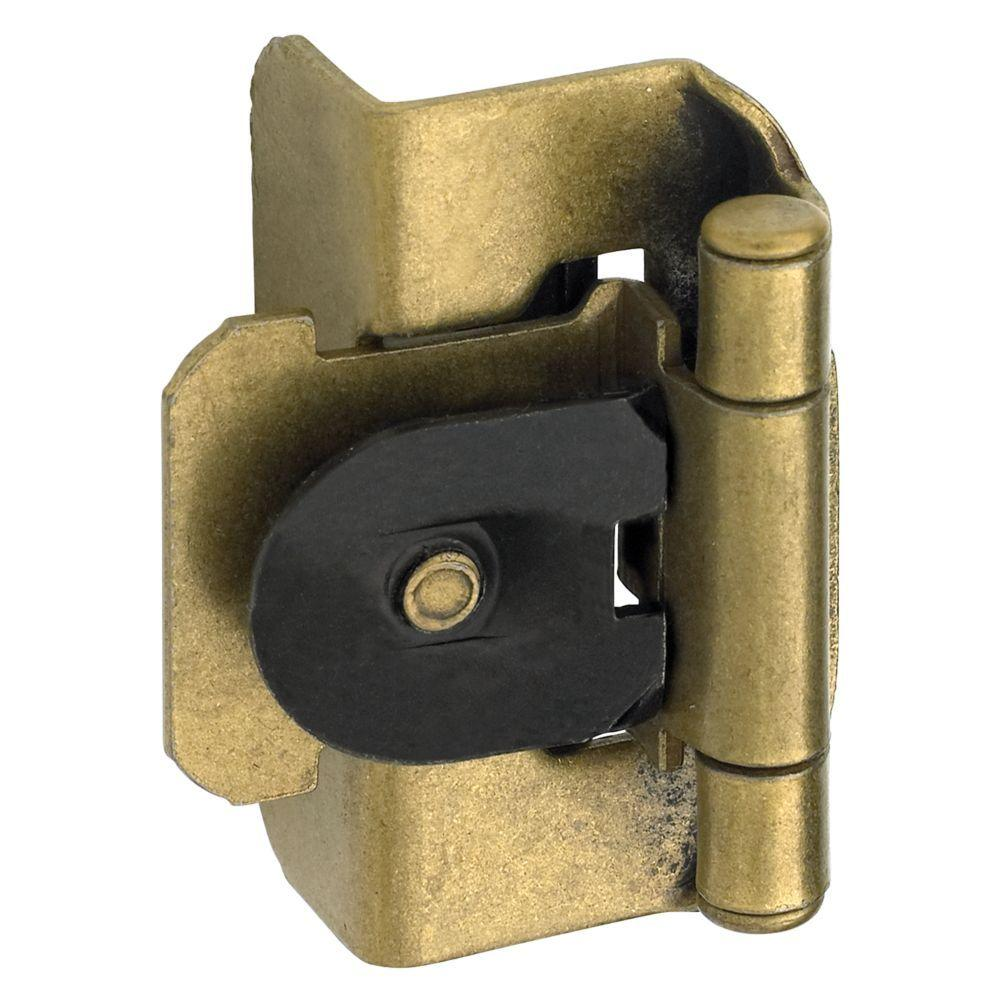 Amerock 1/2 in. Burnished Brass Double-Demountable Inset Hinge ...
