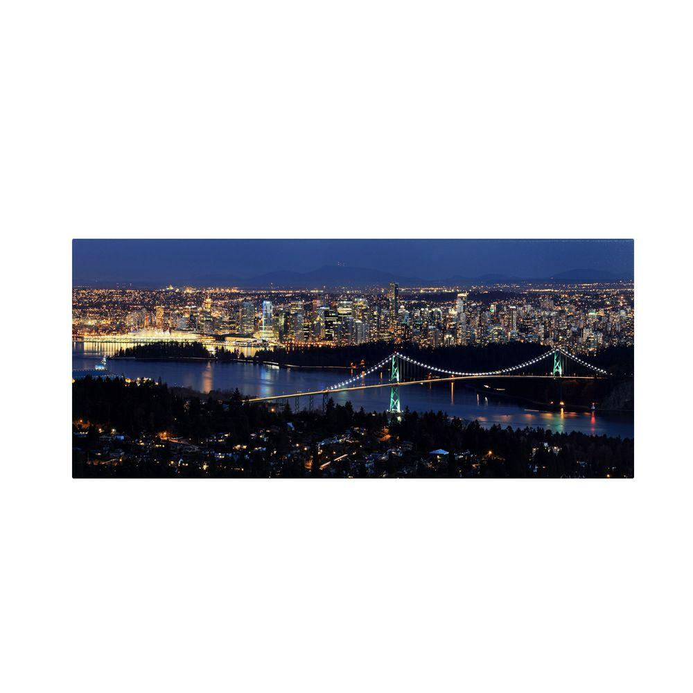 null 10 in. x 24 in. Vancouver Canvas Art