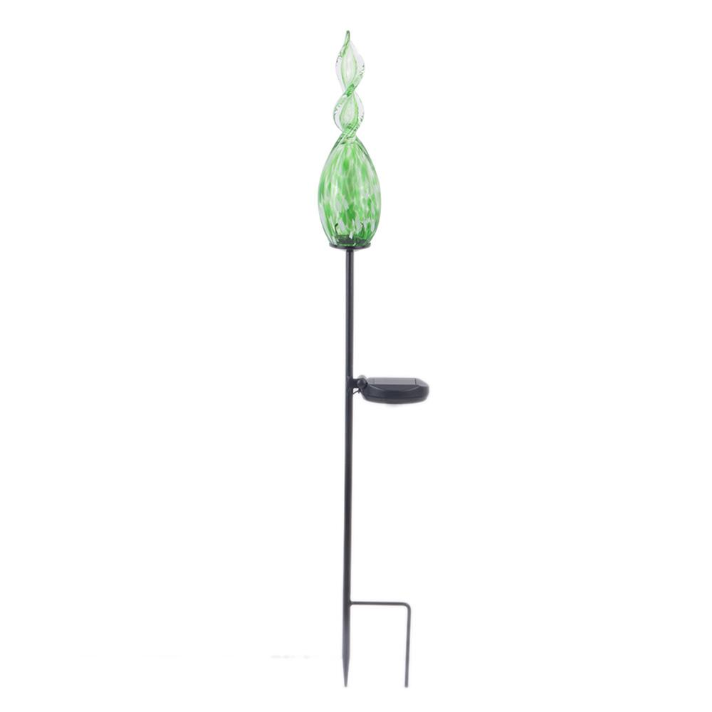Exceptionnel Hampton Bay Green Solar Flame Garden Stake