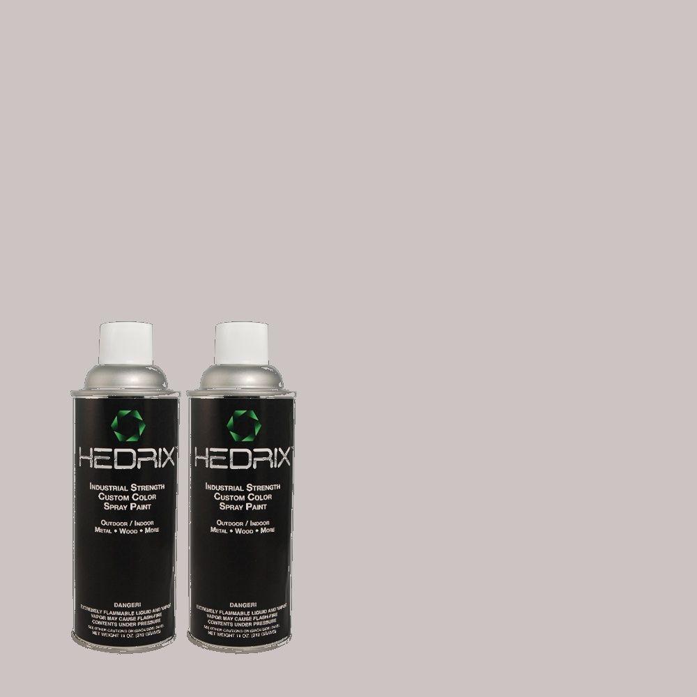 Hedrix 11 oz. Match of 3B48-2 Plum Granite Low Lustre Custom Spray Paint (2-Pack)