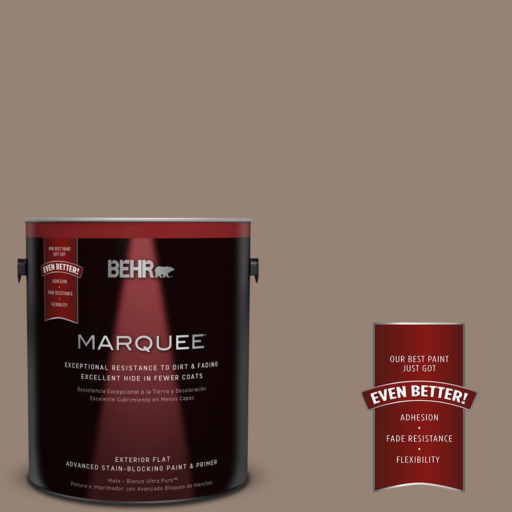BEHR MARQUEE 1-gal. #N230-5 Dry Brown Flat Exterior Paint-445401 ...