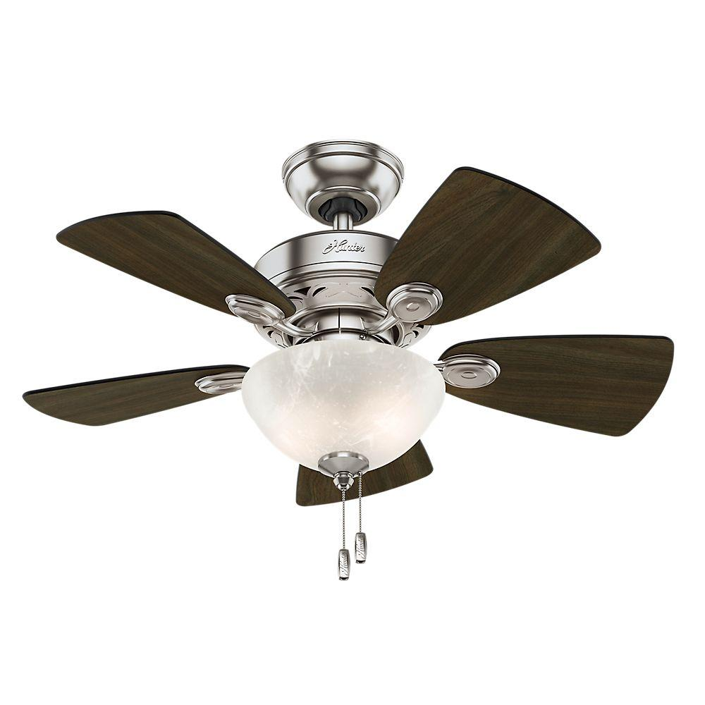 Hunter Watson 34 In Indoor Brushed Nickel Ceiling Fan With Light Kit