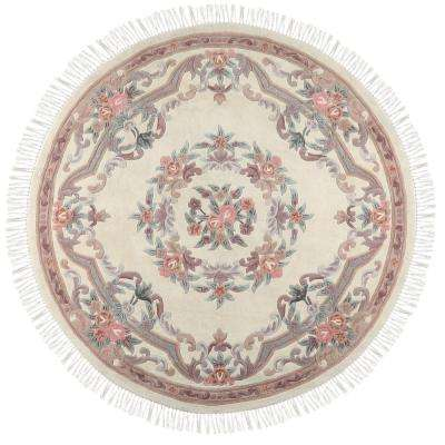 Imperial Ivory 8 ft. x 8 ft. Round Area Rug