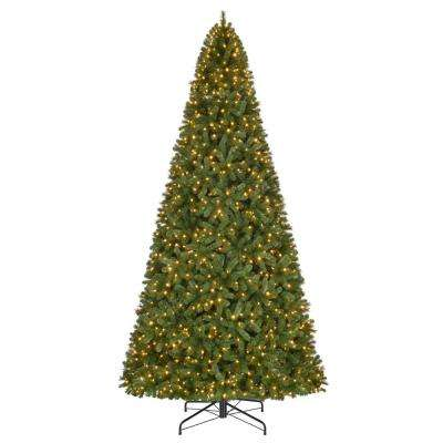 12 ft. Pre-Lit LED Wesley Spruce Artificial Christmas Tree with 1,100 Warm White Lights