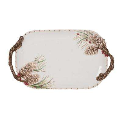 15.25 in. Forest Frost Serving Tray
