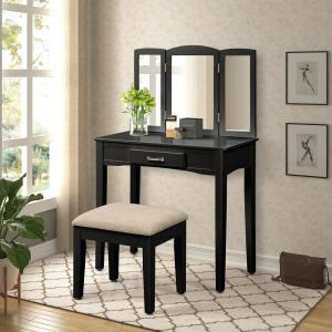 Super Harper Bright Designs Modern 2 Piece Black Vanity Set With Ocoug Best Dining Table And Chair Ideas Images Ocougorg