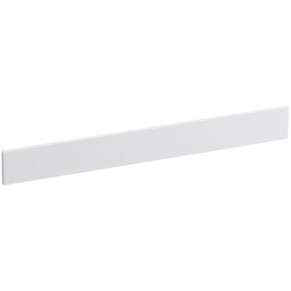 Solid/Expressions 31 in. Solid Surface Vanity Backsplash in White Expressions