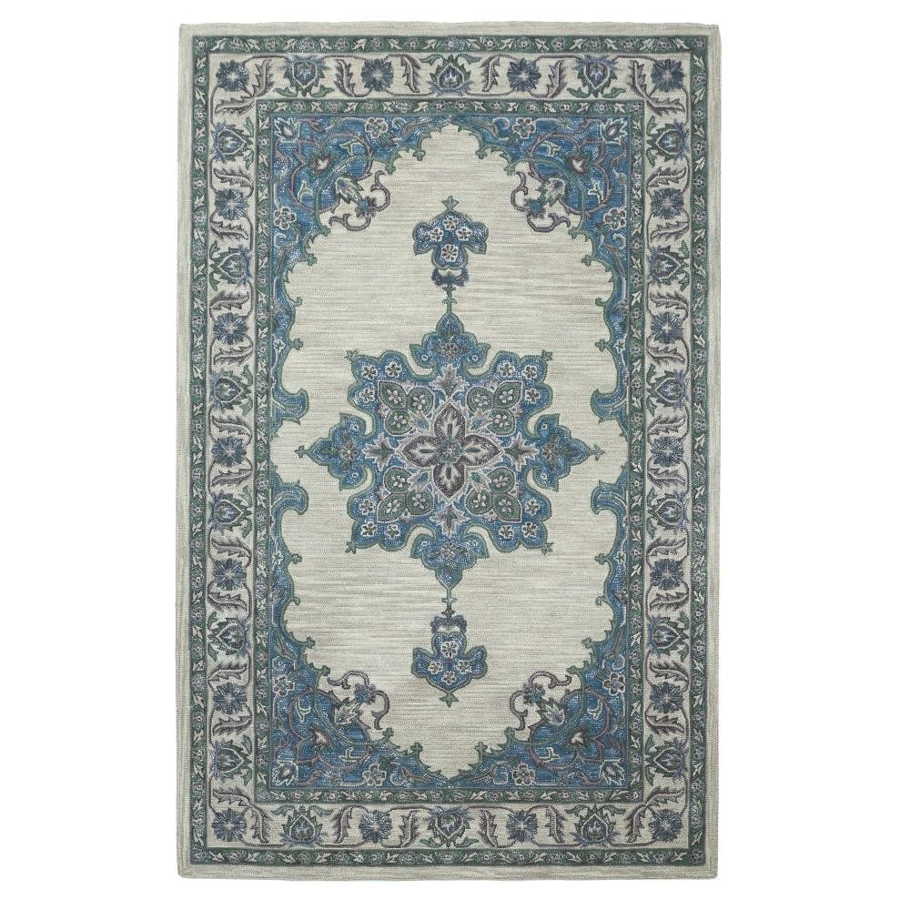 Home decorators collection euclid blue green 4 ft x 6 ft for Home decorators rugs blue
