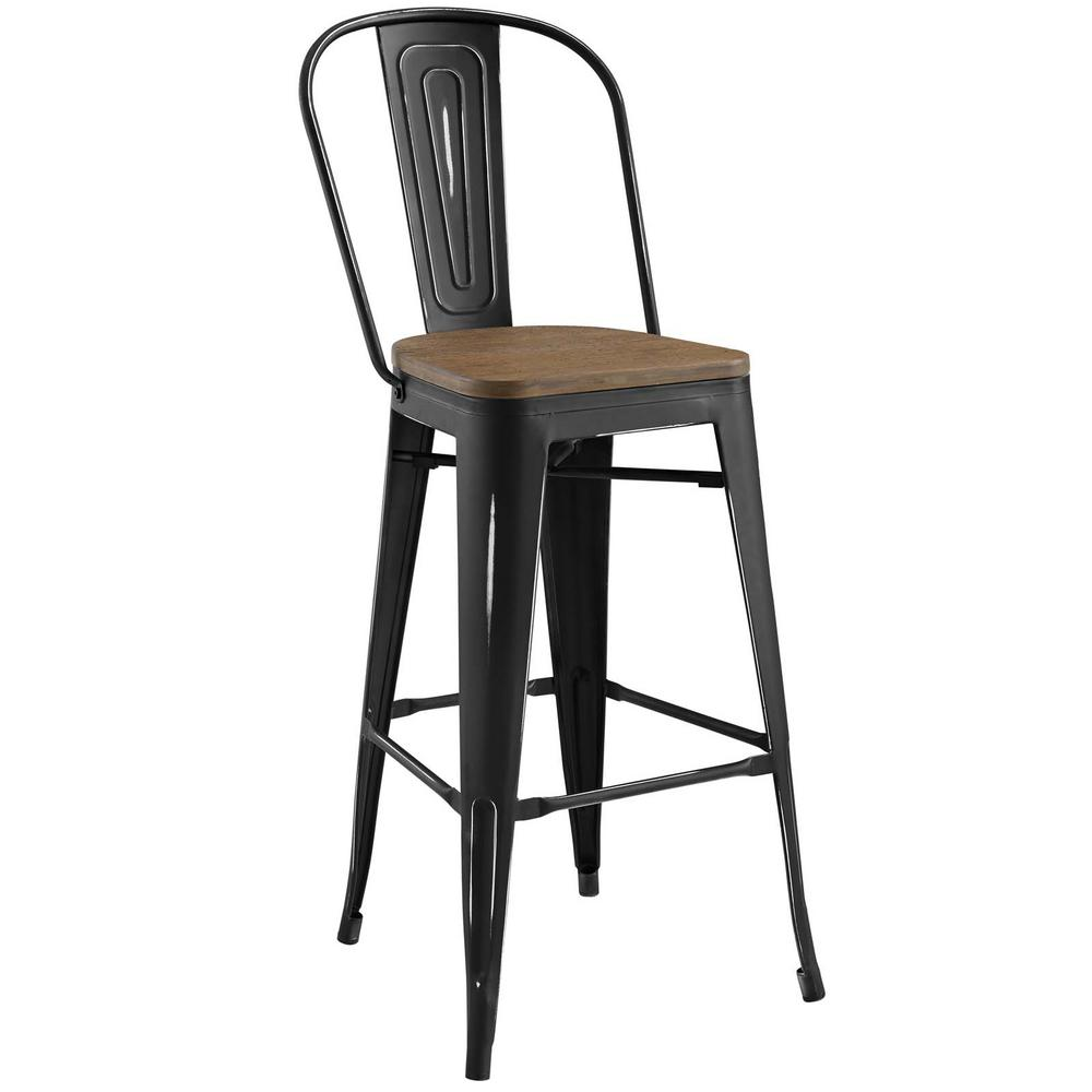 Promenade Black Bar Stool