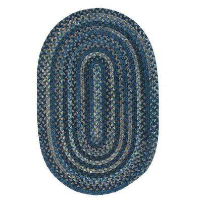 Cage Laguna 4 ft. x 6 ft. Oval Braided Area Rug