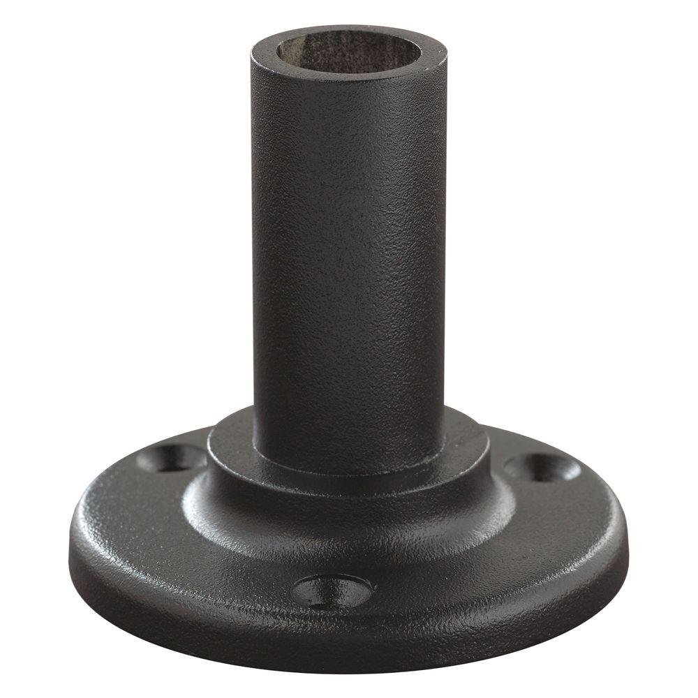 Black Aluminum Straight ADA Hand Rail Wall Mount