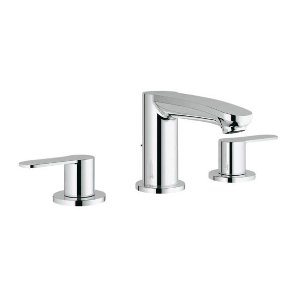 Grohe Eurostyle Cosmopolitan 8 In Widespread 2 Handle 1 2 Gpm Bathroom Faucet In Starlight Chrome 2020900a The Home Depot