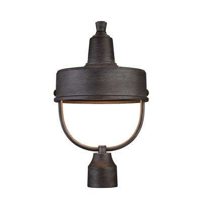 Portland-DS 1-Light Weathered Pewter Outdoor Incandescent Post Lantern