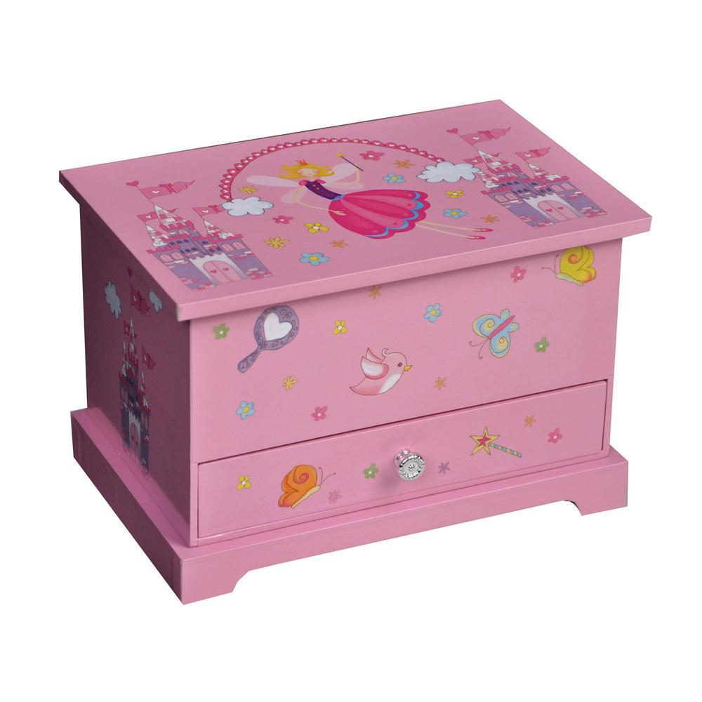 Kerri Girl's Pink Fashion Paper Musical Ballerina Jewelry Box