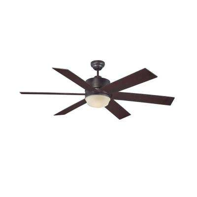 Cariolis 60 in. English Bronze Indoor/Outdoor Ceiling Fan