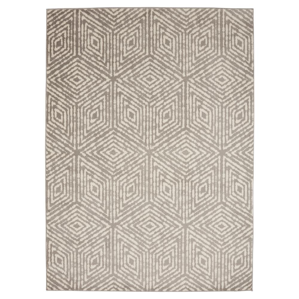 Jasmin Collection Moroccan Trellis Design Gray And Ivory 5