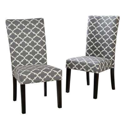 Harleigh Gray Fabric Dining Chair (Set of 2)