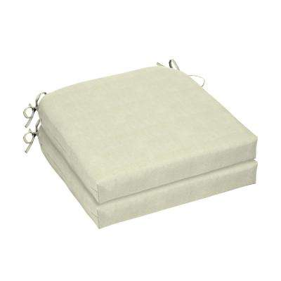 CushionGuard Oatmeal Square Outdoor Seat Cushion (2-Pack)