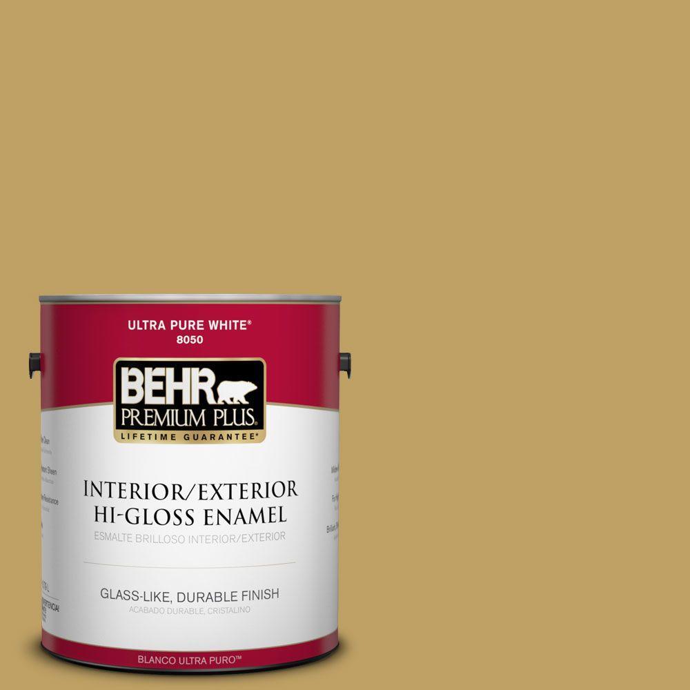 1-gal. #360F-5 Desert Moss Hi-Gloss Enamel Interior/Exterior Paint