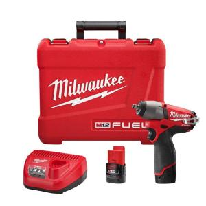 Milwaukee M12 FUEL 12-Volt Cordless Brushless 3/8 inch Impact Wrench Kit by Milwaukee