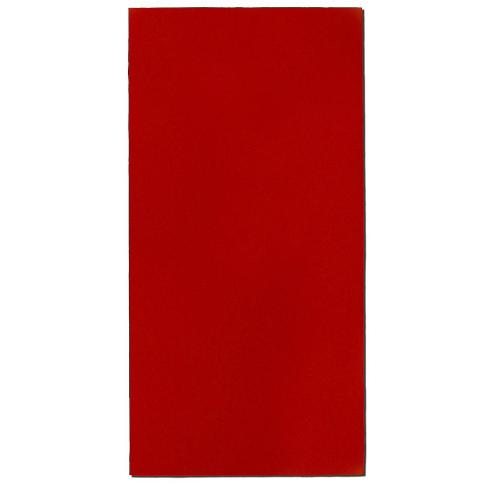 Owens Corning Red Fabric Rectangle 24 In X 48 In Sound