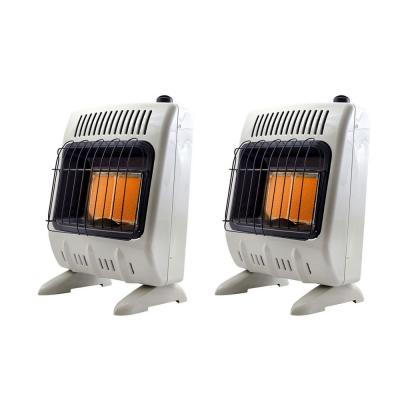 Home Jobsite 10,000 BTU Vent Free Natural Home Gas Space Heater (2-Pack)