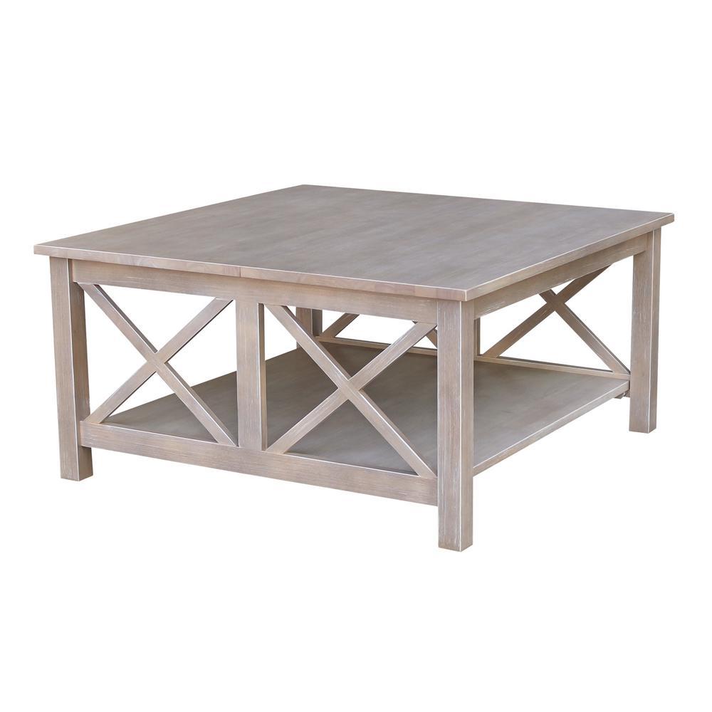 Rustic Mango Wood Baer Coffee Table Weathered Finish