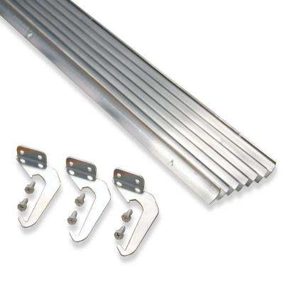 5 ft. Natural Aluminum Gutter with Brackets & Screws - Value Pack of 50 ft.