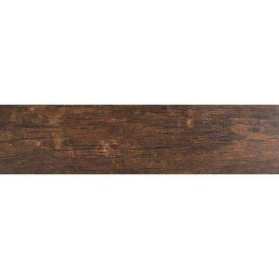 Redwood Mahogany 6 in. x 24 in. Glazed Porcelain Floor and Wall Tile (10 sq. ft. / case)