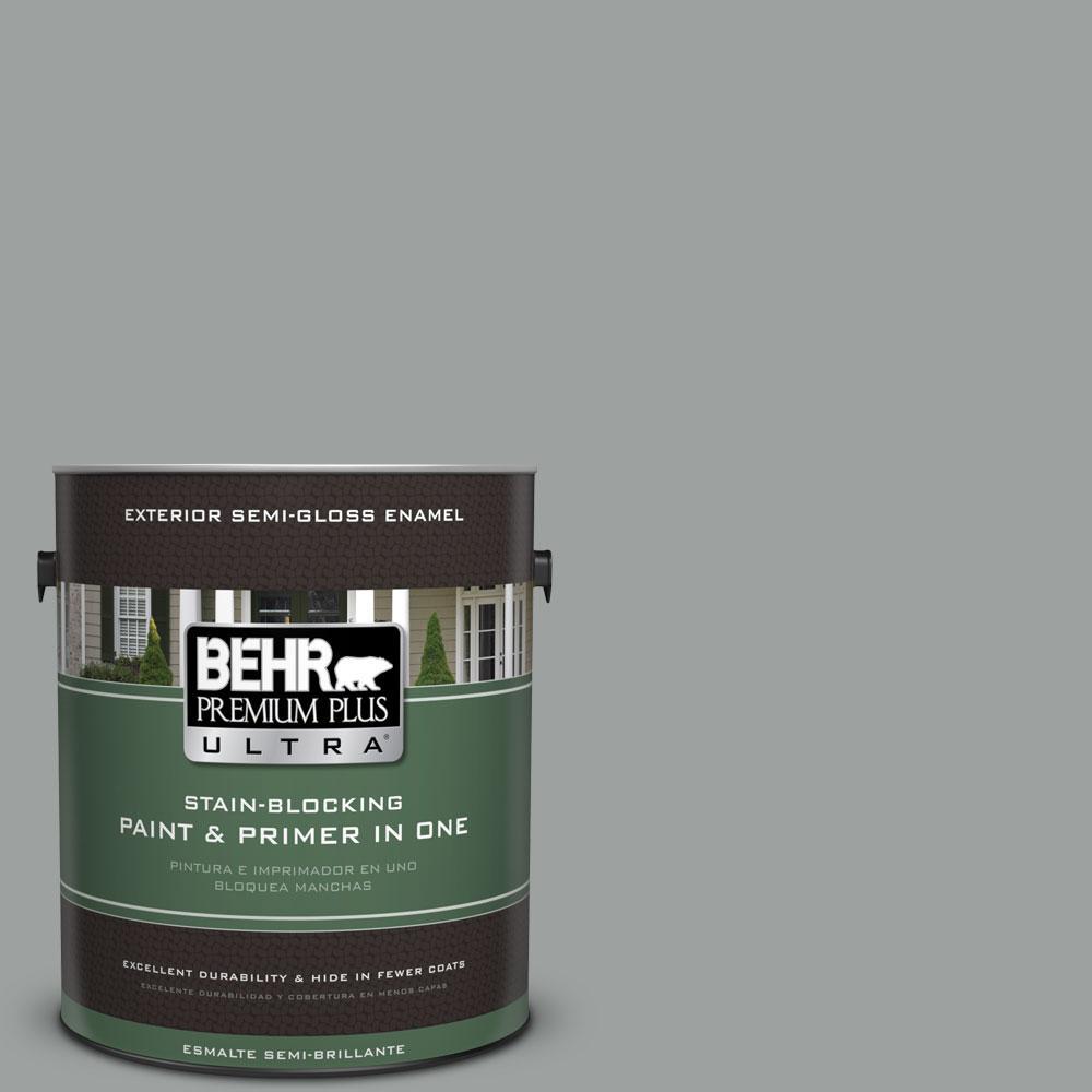 BEHR Premium Plus Ultra 1-gal. #N460-4 Cosmic Quest Semi-Gloss Enamel Exterior Paint