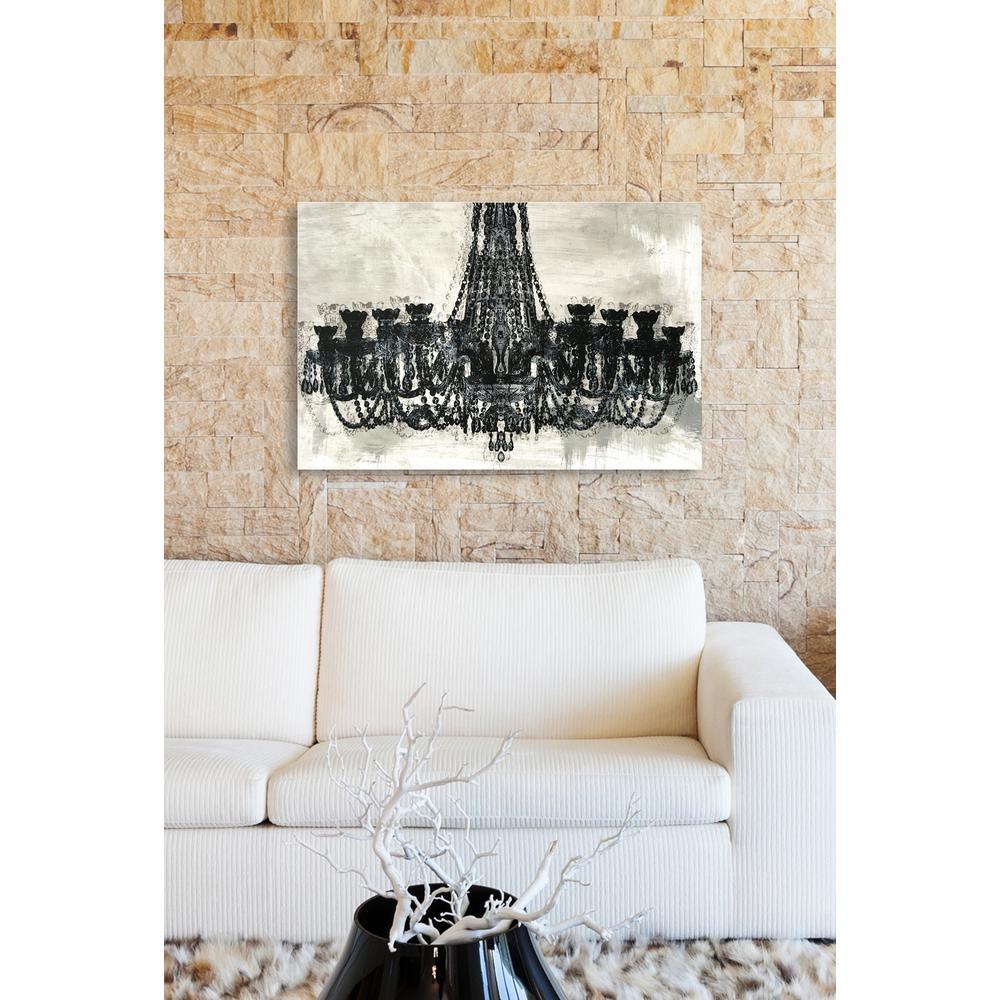 "24 in. x 36 in. ""Decadent Soiree Reverse"" by Wynwood Studio Framed Printed Canvas Wall Art"